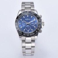 39mm watch men's automatic movement sapphire crystal gift stainless steel case bracelet ceramic bezel 549