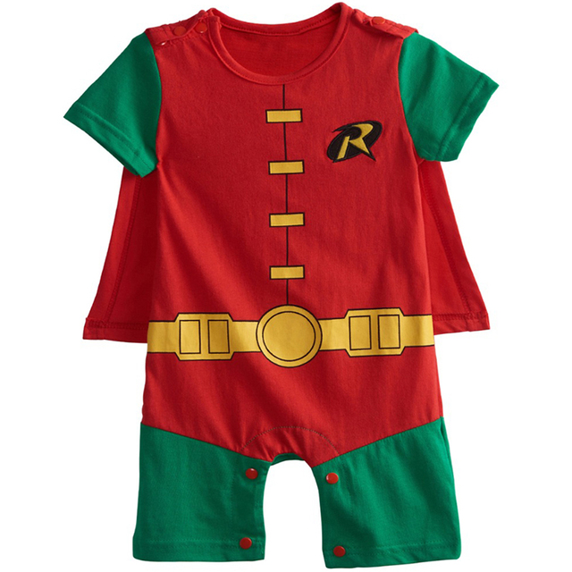 Bébé Garçon Joker Costume Barboteuse Infantile Mignon Salopette Batman Cosplay Parti Combishort Robin Combishort 0-24 Mois
