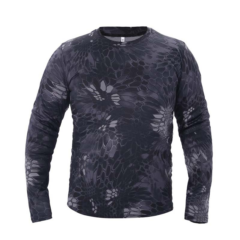 Men Tactical Military Camouflage T Shirt Long Breathable Quick Dry Us Army Combat Full Sleeve T-shirts Male T-shirts Men's Clothing