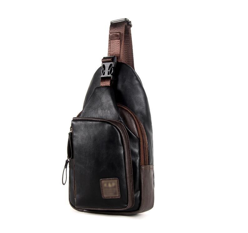 Для мужчин Груди Пакет Слинг Один плечевой ремень пакет сумка кожаная дорожная сумка Для мужчин модные Сумки рюкзак груди мешок jia-034