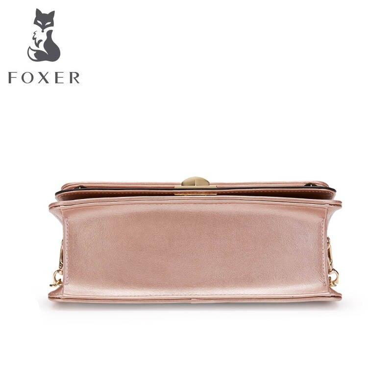2019 Mode Luxe Petit Femmes Main rose gray Cuir Bandoulière Designer Black En Épaule Qualité Nouvelle pink Foxer À Sacs Chaîne Red De Sac dIFv8S7wq