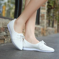 2017 summer hollow punch shoes lace singles shoes breathable shallow mouth pointed shoes