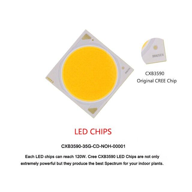 Lumière de culture à effet de serre, 100W CREE CXB3590 COB