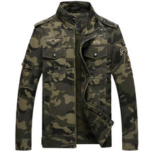 Men Jean Military Camouflage Winter Jackets New 2017 Army Soldier Cotton Air Force One Male Bomber Jacket Autumn/Winter Jackets