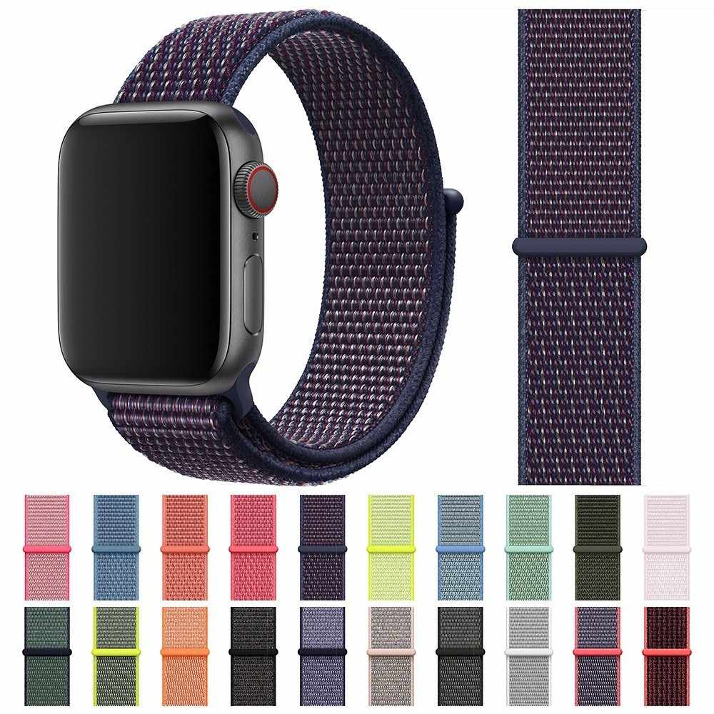 Nuevas correas deportivas de Nylon de alta calidad para Apple Watch 42mm band Series 5 4 3 2 1 iwatch 40mm Correa 38mm 44mm reemplazo
