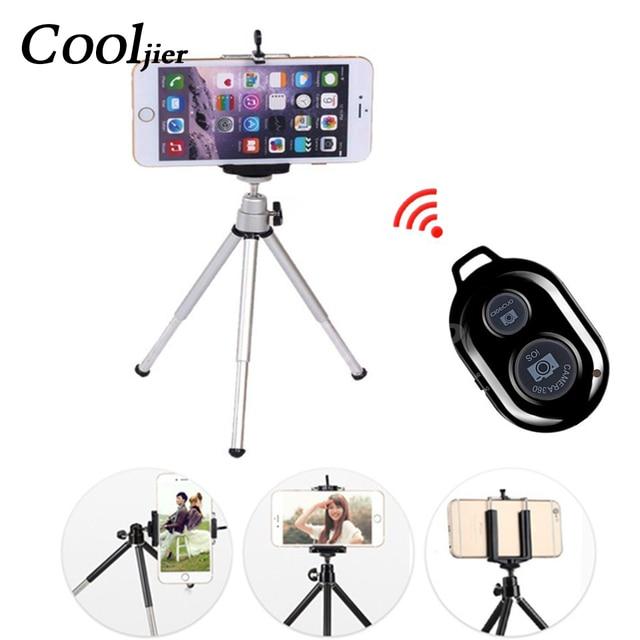 COOLJIER mini tripé para telefone Extensível Tripé Monopé Portátil Mini Suporte Da Câmera Remoto Bluetooth Universal Telefone Tripés