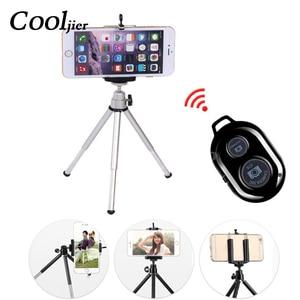 Image 1 - COOLJIER mini tripod for phone Bluetooth Remote Tripod Portable Monopod Extendable Mini Camera Stand Universal Phone Tripods