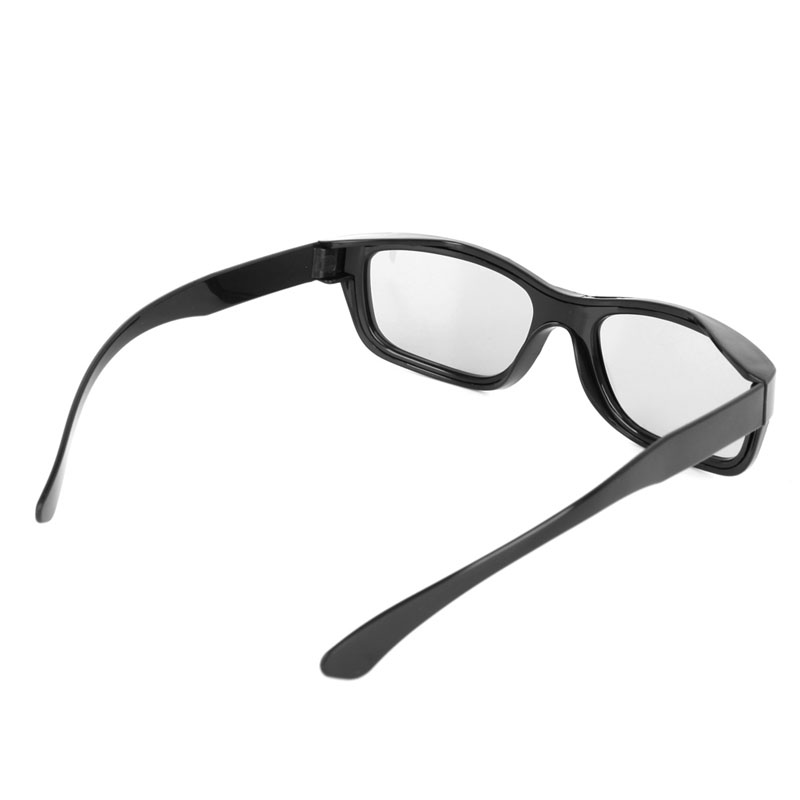 1 PC Circular Polarized Passive 3D Glasses Stereo Black For 3D TV Real D IMAX Cinemas