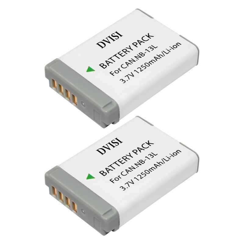 2PC NB-13L Rechargeable Battery NB 13L Camera Batteries for Canon PowerShot G5 X G5X G7 X Mark II G7X G9 X G9X SX720 HS
