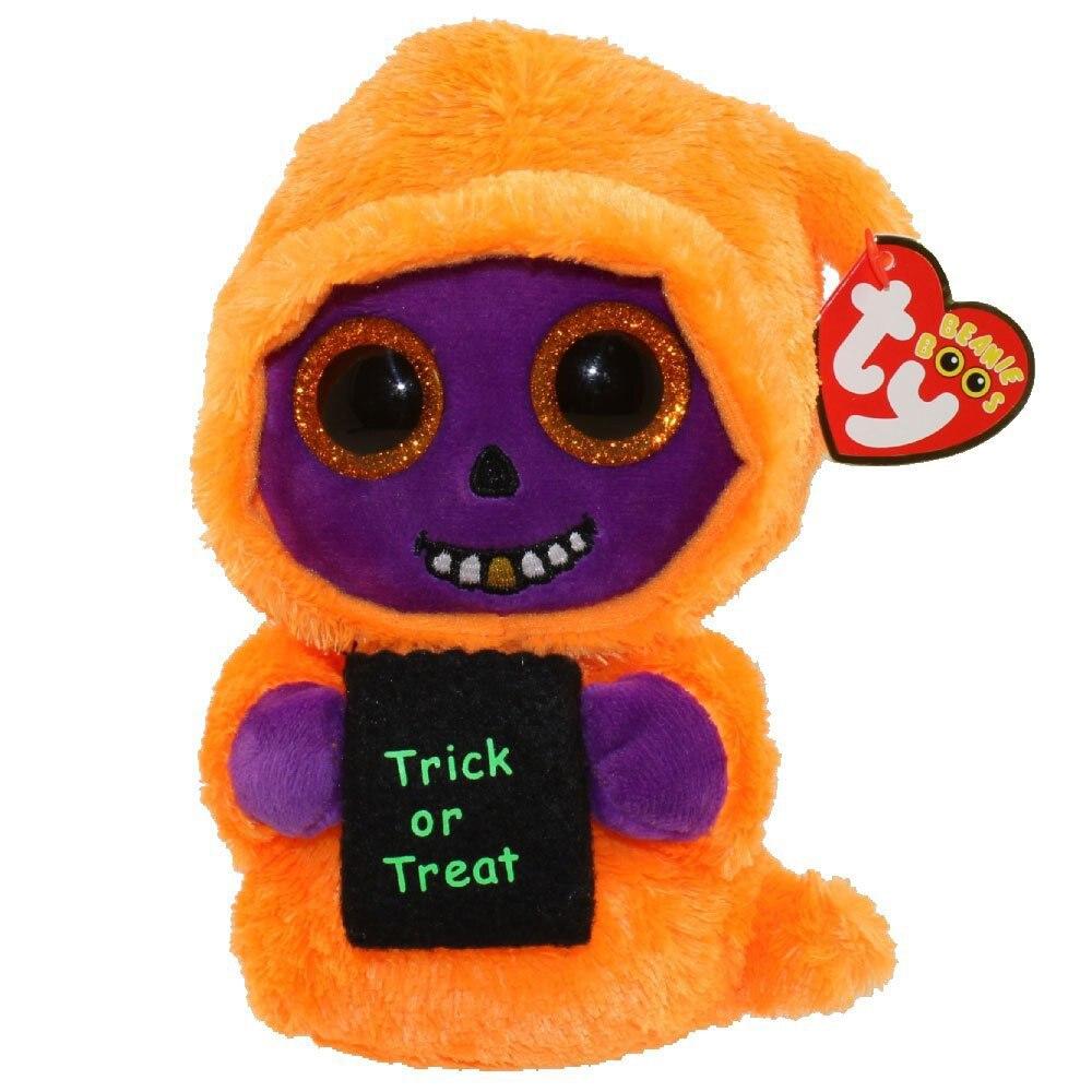 Beanie Orangepurple 25cm Boos Skelton 10 Pyoopeo Ty Halloween bgyYf6v7