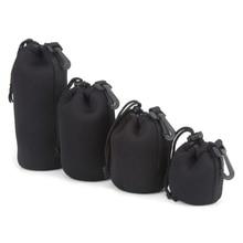 New Camera Neoprene DSLR Soft Lens Pouch Protector Case Bag For Canon Nikon Sony