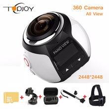 360 Video Camera Wifi Mini 360 Action Camera 2448*2448 Ultra HD Panorama Camera 360 Degree 220*360 Sport Driving Action Camera
