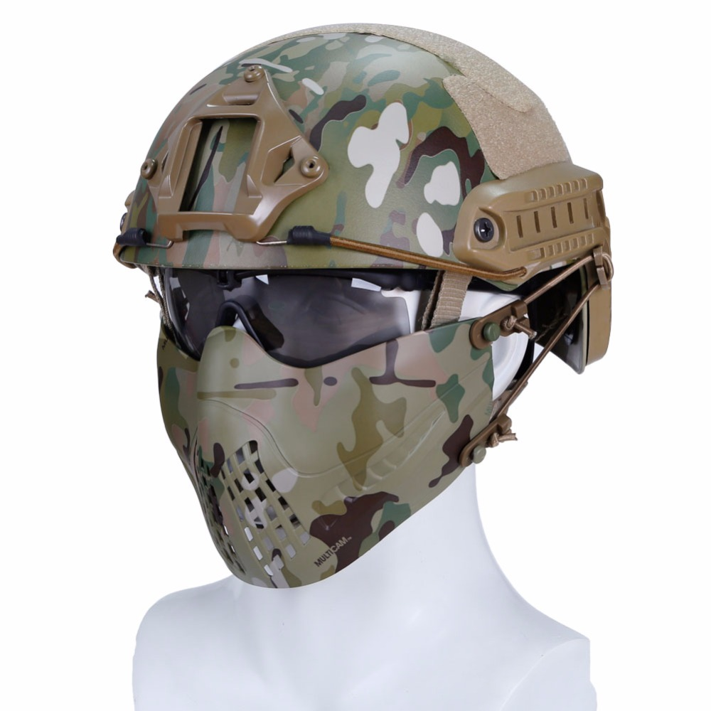 WoSporT Tactical Paintball Mask Airsoft Mesh Face Shields Masks For Hunting Shooting CS Military Pilot Paintball Protective