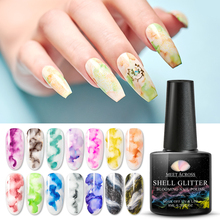 MEET ACROSS 8ml Watercolor Nail Gel Polish Blooming Nail Gli