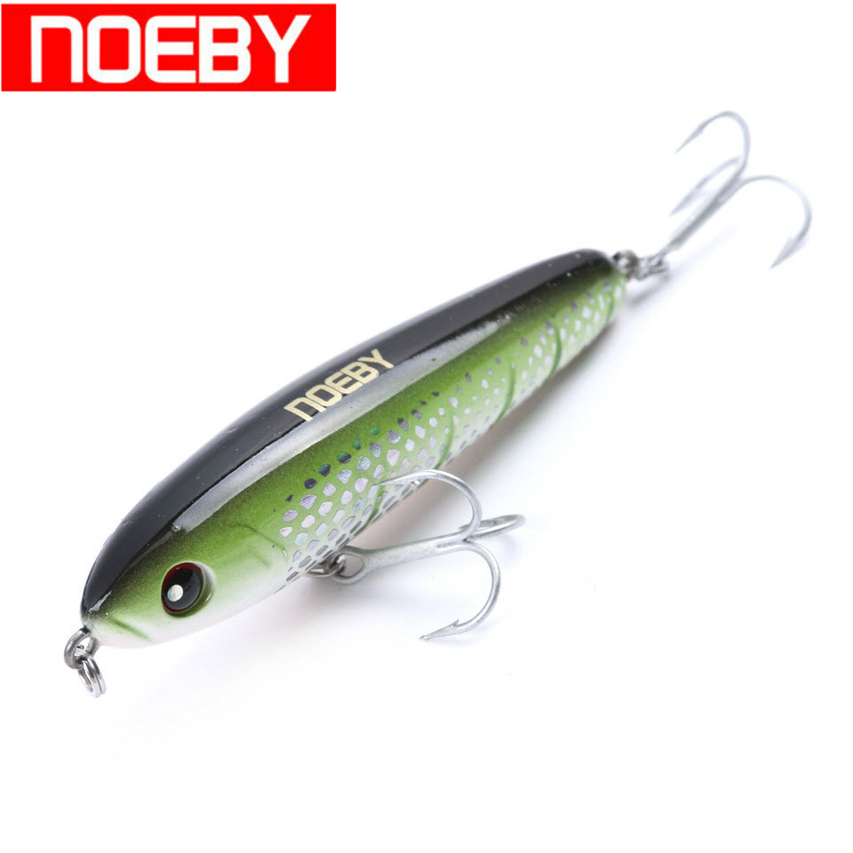 NOEBY Pencil Fishing Lure Hard Plastic Lure 75mm 28g Sinking 0.5-1.8m Artificial Bait VMC Hooks Leurre Dur Peche Wobbler Bait noeby nbl9062 fishing lures 66g 140mm pencil sinking leurre peche mer brochet hard fishing bait