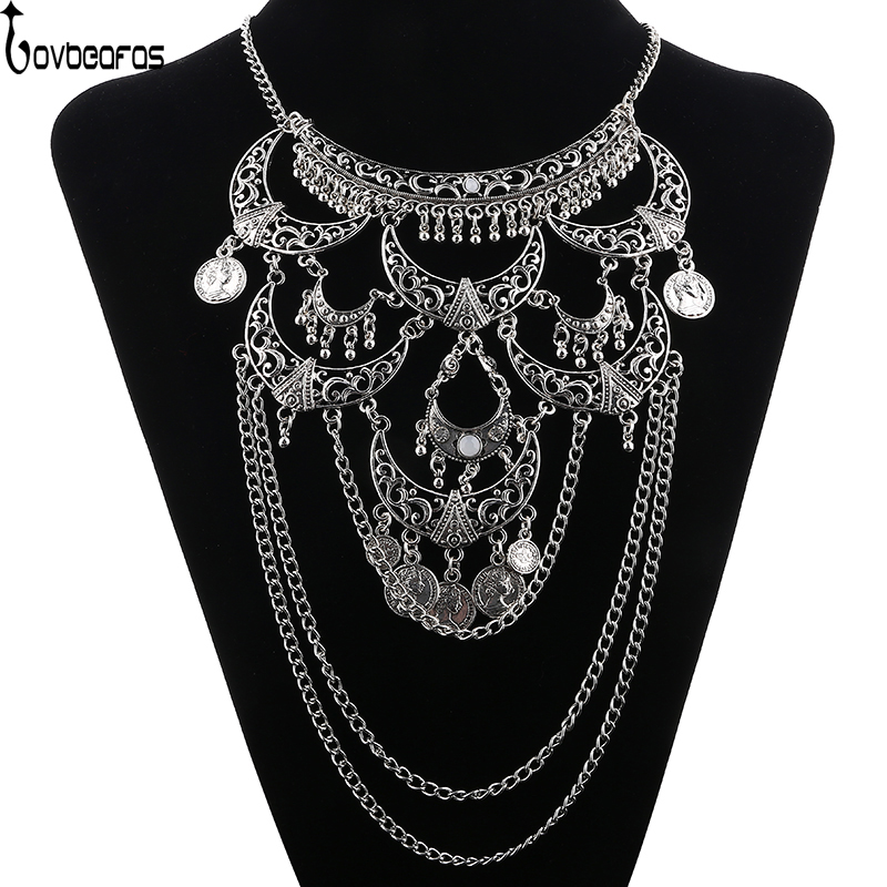 LOVBEAFAS Collares 2019 Boho Maxi Choker Collier Femme Necklace Vintage Colar Statement Bohemian Necklace Women Fine Jewelry