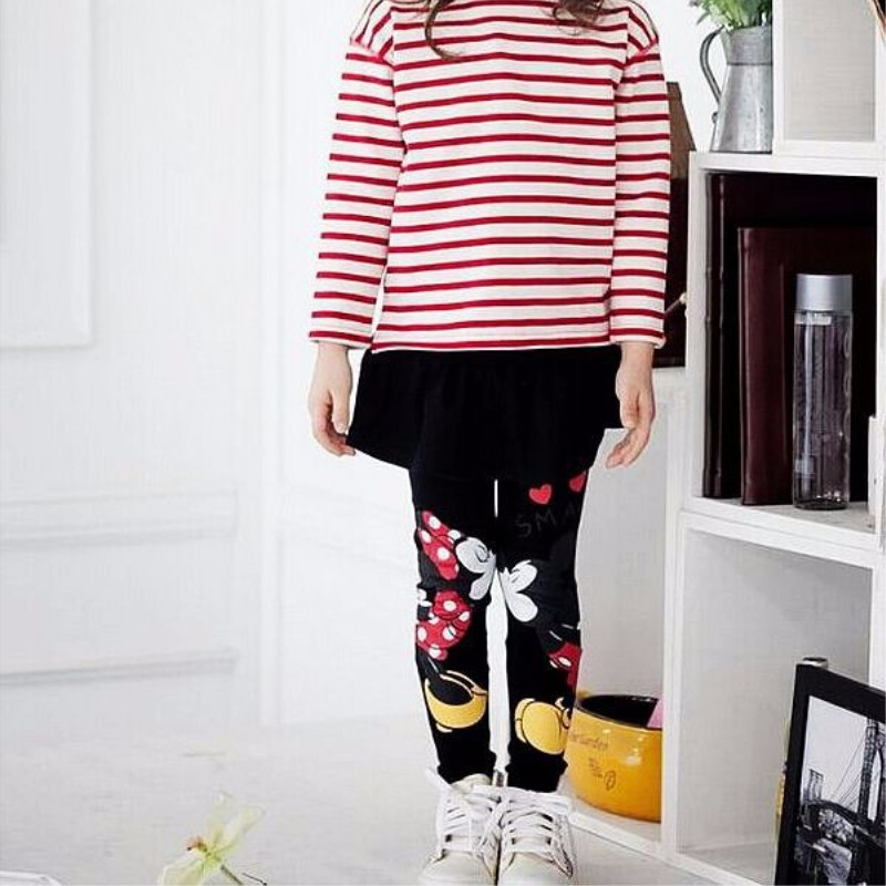 New 2019 Autumn Winter Toddler Baby Kids Girls Mouse Skirt Pants Leggings Children Spring Autumn Clothes Cartoon Leggings in Pants from Mother Kids