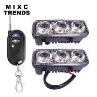 Waterproof Remote Control 2x3Led Ambulance Police light 12V Car Light Flashing Firemen Lights Strobe Warning light Car Styling