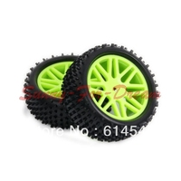 4x1/10 HSP Off Road Buggy Front Rear Wheel Rims Tyres Tires Sponge 66017 66037