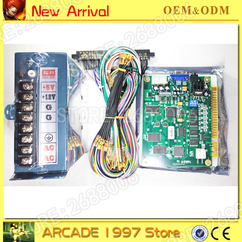 60 in 1 gameboard + jamma harness +power supply VGA/CGA output for ...