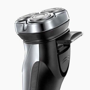 Image 5 - Flyco IPX7 su geçirmez 1 saat şarj yıkanabilir şarj edilebilir döner tıraş makinesi erkekler için elektrikli tıraş makinesi FS339 C FR8 kesici kafa