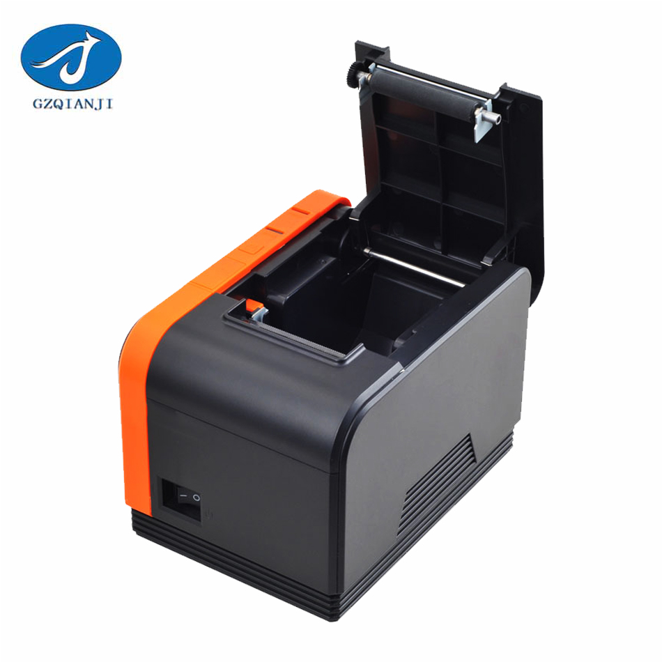 GZ5808 Thermal Printer 58mm POS Receipt Bill Printer 58mm Thermal Receipt Printer pos58 printer Big gear 120mm/s for Restaurant i58tp04 ipbs052 58mm thermal receipt printer usb port 1d barcode scanner for restaurant shopping market warehouse