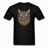 New Arrived OWL Printed T Shirt Men Women Funny Cartoon Casual Cotton O Neck Tshirt Hip