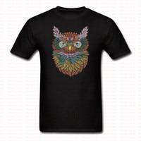 New Arrived OWL Printed T Shirt Men Women Funny Cartoon Casual Cotton O Neck Tshirt Hip