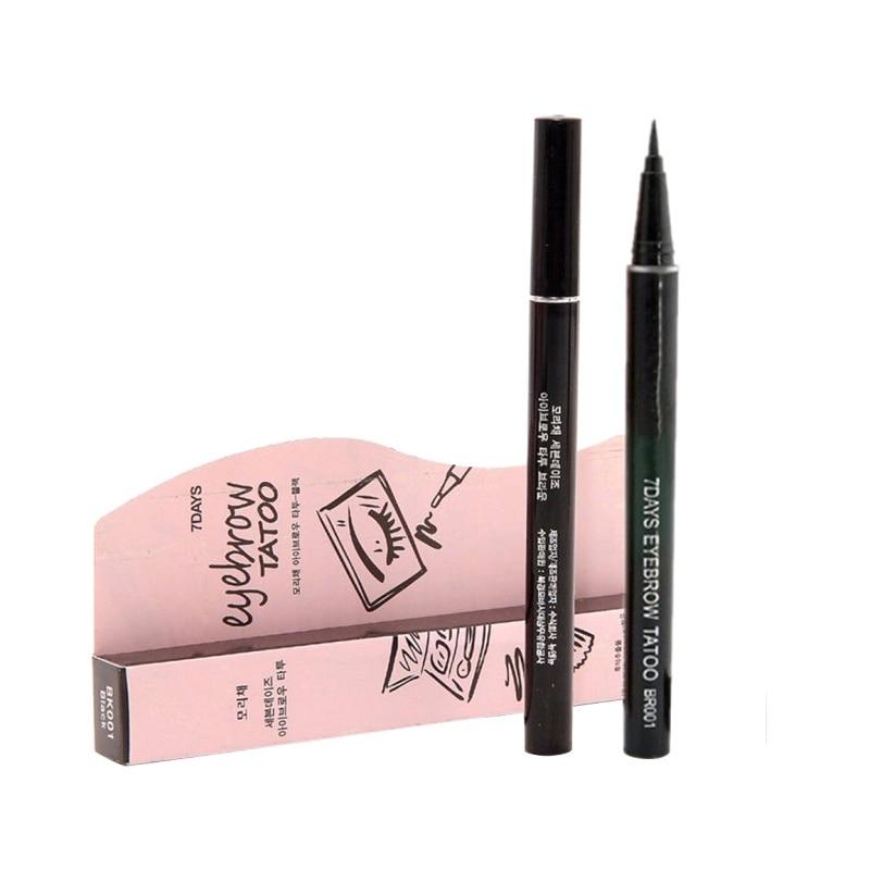 Vrouwen natuurlijke make-up Waterproof Brown Eyebrow Tattoo Pen Liner - Make-up