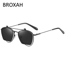 Retro Metal Polarized Sunglasses Men 2019 Anti Blue