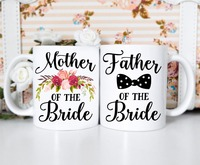 Mother Father Of The Bride Mugs Kitchen Decor Ceramic Cup Home Decal Whisky Cups Wine Beer