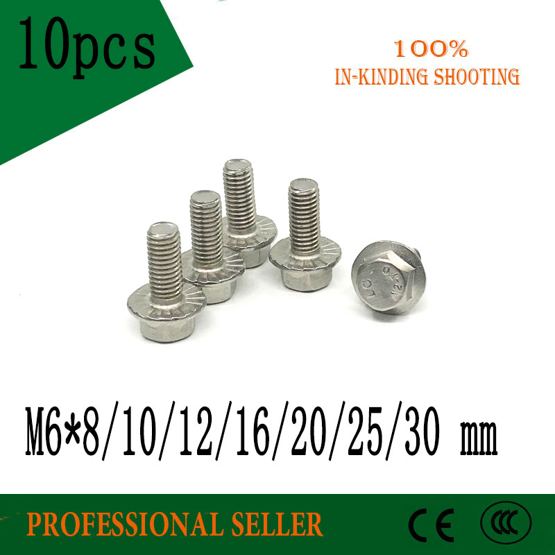 Hex Head Bolt A2 Stainless Steel M6 6mm x 65mm Pack of 25
