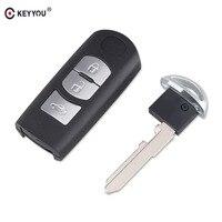 KEYYOU 3 Tasten Smart Fernbedienung Auto Schlüssel Shell Für Mazda M2 M3 M6 CX-7 CX-9 Ersatz Fernbedienung Auto Schlüssel rohlinge Fall