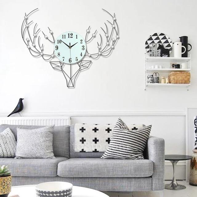 3d grande horloge murale design moderne d coratif mur. Black Bedroom Furniture Sets. Home Design Ideas