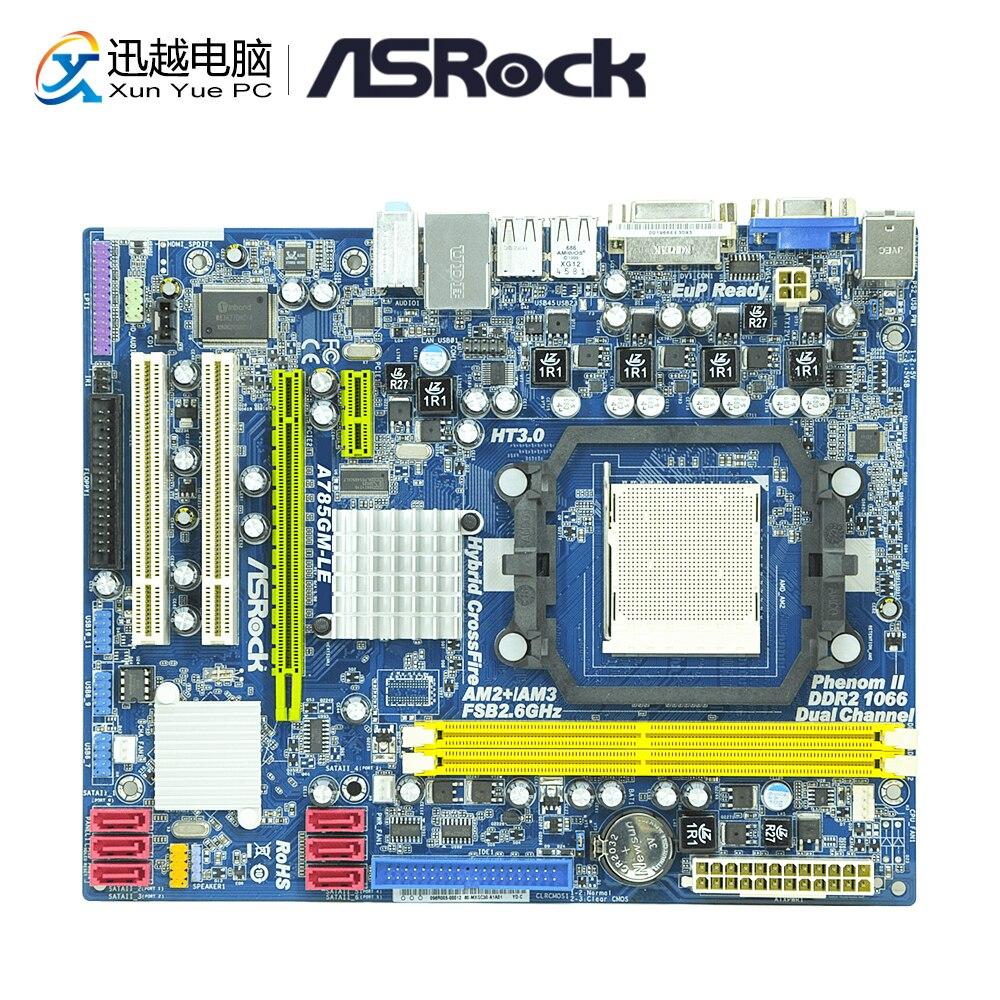 Asrock A785GM-LE Desktop Motherboard 785G Socket AM2/AM2+/AM3 i3 i5 i7 DDR2 8G USB2.0 Micro-ATX original motherboard m4n78 am v2 socket am2 am2 am3 ddr2 940 pin fully integrated desktop motherboard free shipping