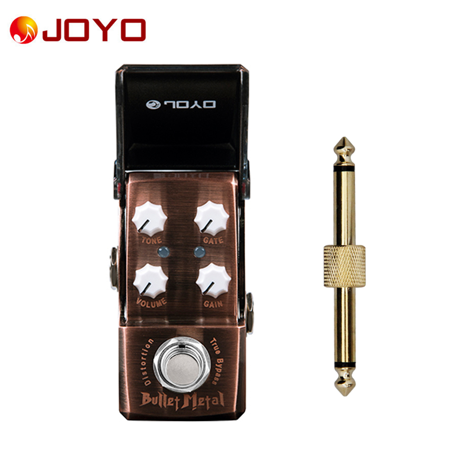цена на NEW Guitar effect pedal JOYO DISTORTION Bullet Metal Ironman series mini pedal VCA technology JF-321 + 1 pc pedal connector