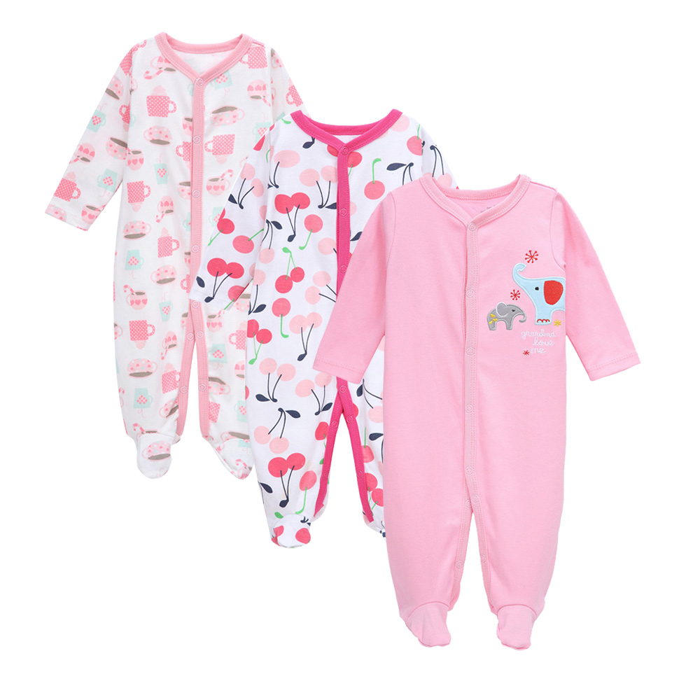 94887d6e45a2 Detail Feedback Questions about 3 Pcs lot Baby Romper Long Sleeves ...