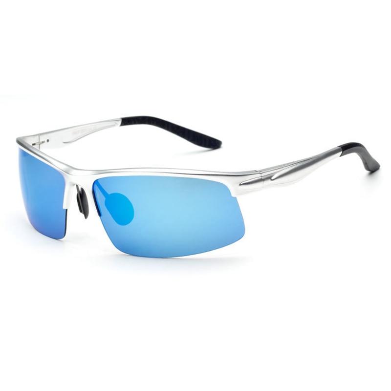 Jomolungma поляризованные очки для рыбалки для мужчин и женщин с корпусом из алюминиевого магниевого сплава уличные спортивные солнцезащитные очки PG880 - Цвет: Blue