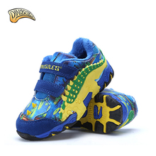 Dinoskulls Children Boy Kids Shoes Winter Fur 2017 Krasovki Brand Breathable 3D Dinosaur Sport Shoes Running Sneakers