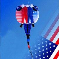Бесплатная доставка Высокое качество Новый 3d кайт уплотнения мягкий воздушный змей нейлон Рипстоп открытый игрушки летающий большой возду