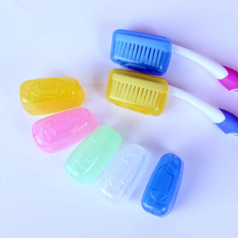 5 sztuk przenośna torba podróżna na zewnątrz szczoteczka do zębów osłona głowy Case pokrywy Mini schludny schludny zdrowe produkty łazienkowe