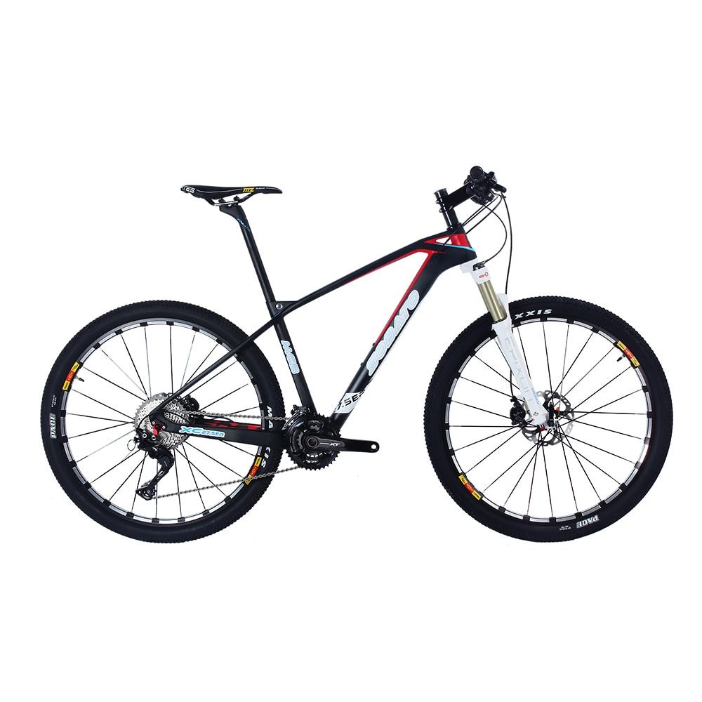 2016 carbone vtt 27.5er 9 kg mtb vélo 650B bicicleta UD noir mat full carbon vélo 14.5/16/17.5/19