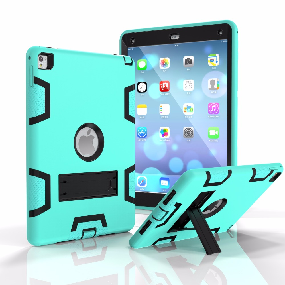 ZIMOON Case For Apple iPad Air 2 Silicon Shockproof Smart Case Hit Color Robot All Inclusive With Stand Cover For iPad Air 2