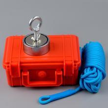 300 KG * 2 lado fuerte imán de neodimio de cuerda caja opción buscando salvar imanes Cazador de tesoros.