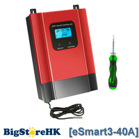 eSmart3 MPPT 40A Solar Charge Controller Max 150VDC Input Back light LCD Solar Regulator RS485 Port with LCD12V 24V 36V 48V Auto