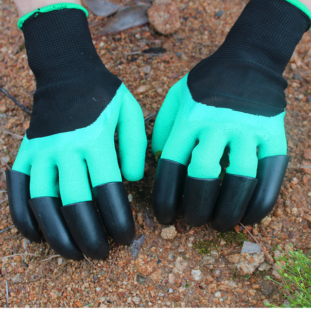 New Garden Gloves 8 ABS Plastic Claws for Garden Excavation Planting 4