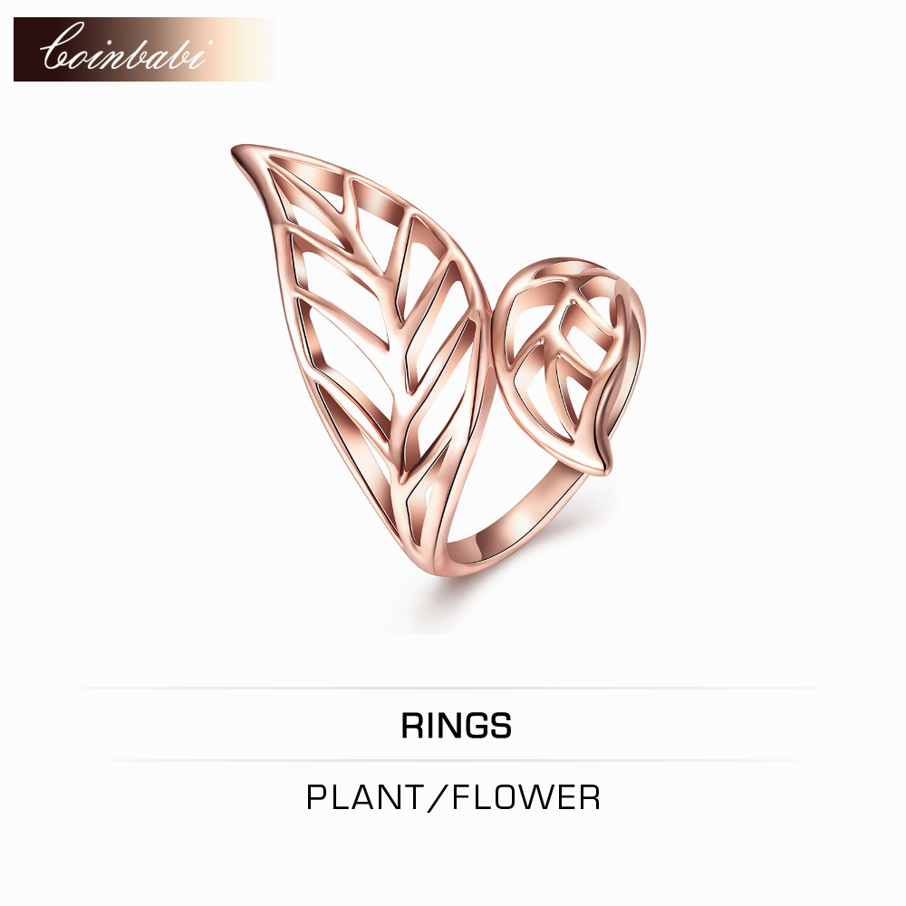 electronic resumes promotion shop for promotional electronic ring plant flower leaf ring rose gold jewelry whole website trendy rose gold plated gift for women