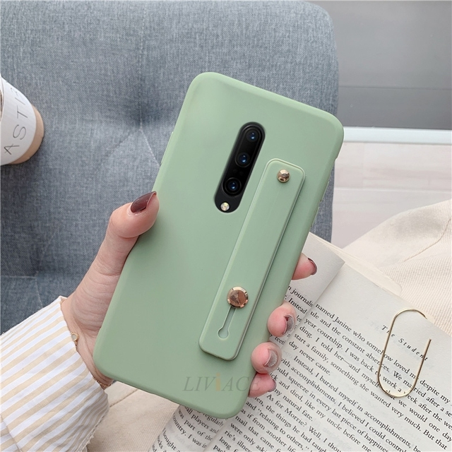 Hand Band silicone case for oneplus 7 pro 6 6t 5 5t 7t wrist band holder phone holder kickstand soft cases one plus 7 back cover