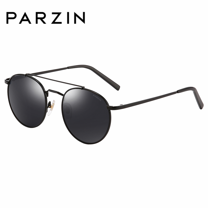 PARZIN Brand Retro Round Children Sunglasses High Quality Real Polarized Lens Glasses For 8-14 Years Old Top Grade Glasses 8123 2016 new shades european style fashion brand designer metal sunglasses for women luxury quality large round sun glasses
