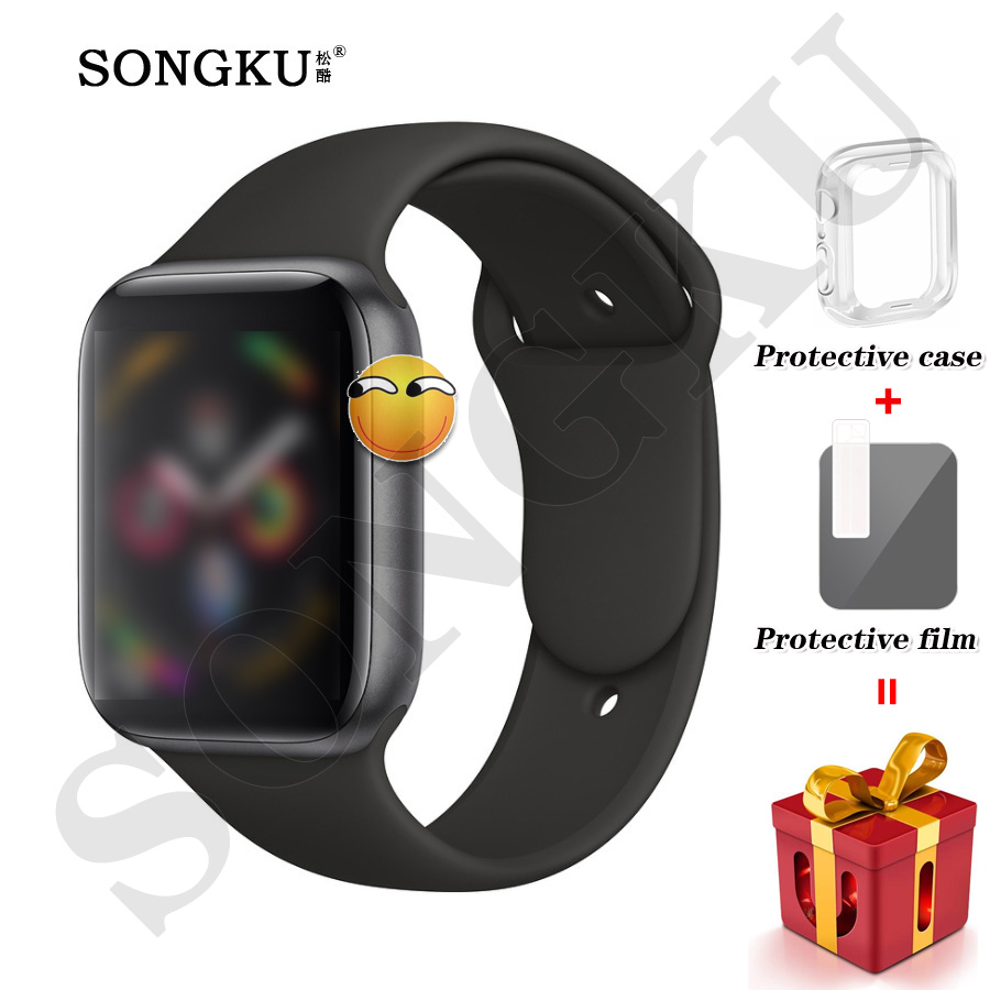 IWO 8 PLUS 44mm Watch 4 Heart Rate Smart Watch case for apple iPhone Android phone IWO 5 6 upgrade Watch series 4 1:1(China)